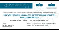 Vabilo ob razstavi ZNANSTVENE IN STROKOVNE MONOGRAFIJE TER UNIVERZITETNI UČBENIKI AVTORJEV EPF