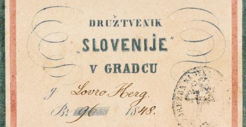 Članska izkaznica društva Slovenija v Gradcu