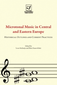 Naslovnica knjige: Microtonal music in Central and Eastern Europe